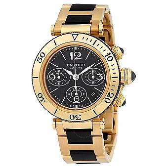 Cartier Pasha Seatimer Musta Kronografi Dial Automaattinen Men's Watch W301970M
