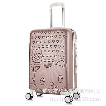 حقيبة مستحضرات التجميل لطيف القط الأمتعة وقضية السفر القط