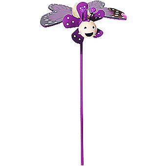puutarhaneula perhonen 9 x 8 cm puu violetti