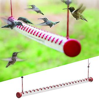 Hummingbird Feeder Best Bird Feeder With Bright Red Transparent Tube Easy To Clean For Outdoors Garden Accessories