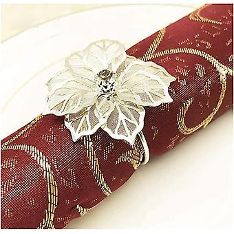 Gold Silber Serviettenringe Schnallen, 12 stuck Metall Rose Blume Serviette Schnallen fr
