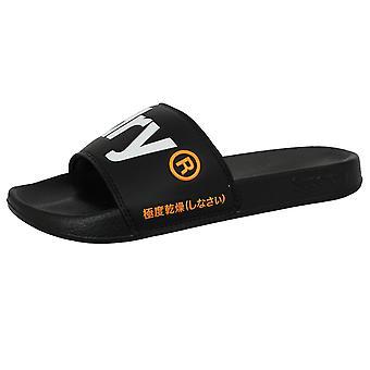 Superdry men's black pool sliders