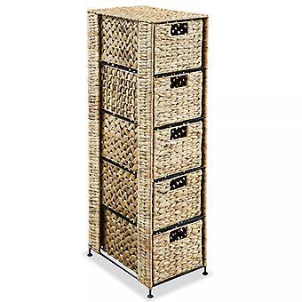 وحدة تخزين vidaXL مع 5 سلال 25.5 × 37 × 100 سم hyacinth المياه