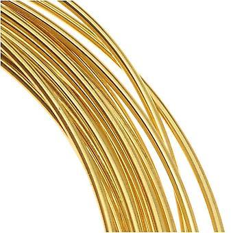 Beadsmith Brass Saksalainen bead lankalanka 22 mittari / .6mm (10 metriä / 32,8 jalkaa)