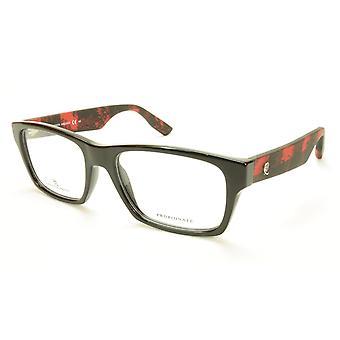 Alexander McQueen Eyeglasses Frame MCQ 0011 RJZ Black Red Acetate Italy 53-18-14