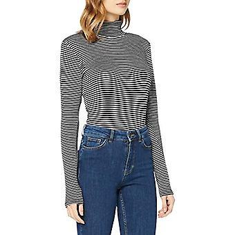 Herrlicher Tinker Jersey Striped T-Shirt, Black 11, L Woman