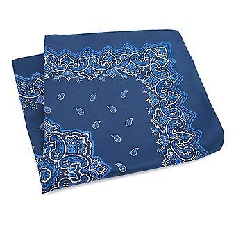 Sininen Paisley kuvio suuri 33cm Hanky tasku neliö