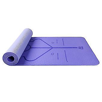 Homemiyn double couche tpe posture ligne doux épais tapis de yoga 183 * 61 * 0.6cm pl-607