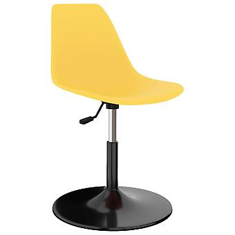 vidaXL Swivel sedie sala da pranzo 6 pezzi. PP giallo