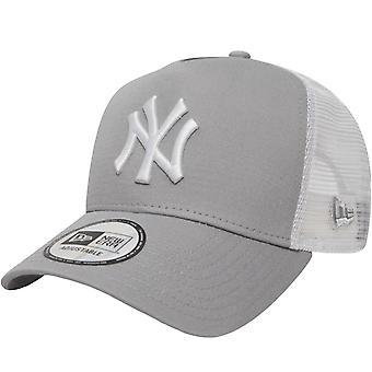 ניו עידן נוער ניו יורק יאנקיז A-Frame 9Forty נהג משאית כובע - אפור - 6-12 Yrs