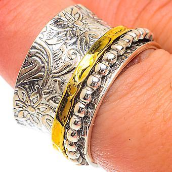 Meditation Spinner Ring Size 7.75 (925 Sterling Silver)  - Handmade Boho Vintage Jewelry RING66364