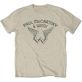 Paul McCartney - Wings Logo Men's Medium T-Shirt - Natural