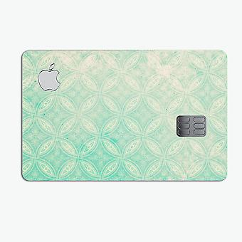 Faded Teal Overlapping Circles - Premium Protective Decal Skin-kit