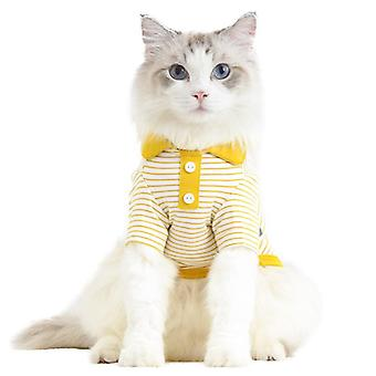 Polo fir striped pet spring/summer dog clothes cat clothing