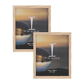"""גימור אלון בגודל 8"""" x 10"""" - ערכת iFrame של 2 מסגרות צילום גימור אלון"""
