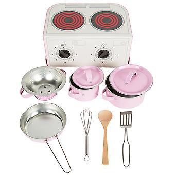 Sass & Belle Pastel Pink Play Cooking Set