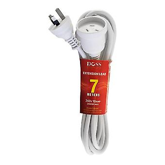 Doss 7M Power Extension Lead White