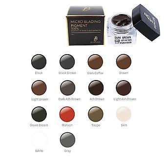 BIOMASER Microblading Pigment Tatuering Permanent Ögonbryn Makeup Färg Bläck SPMU[Ash Brown]