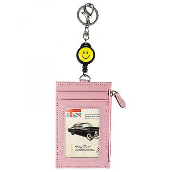 Leuyuan Id Badge Holder With Retractable Jojo Reel And Coin Pocket