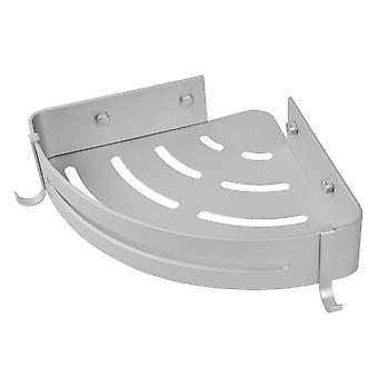 Ripiano angolo bagno - argento metallo - 30 x 22 x 5,7 cm