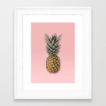 Tijdschriften kranten ananas vector frame