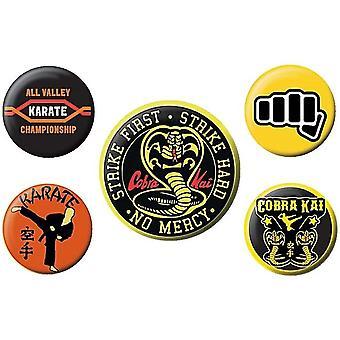 Cobra Kai No Mercy Badge Set (Confezione da 5)