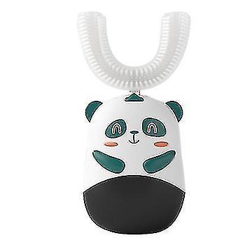Детская U-образная электрическая зубная щетка £? Ультразвуковая автоматическая зубная щетка (зеленый)
