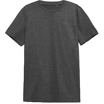 4F TSM352 NOSH4TSM352CIEMNYSZARYMELAN universal miesten t-paita