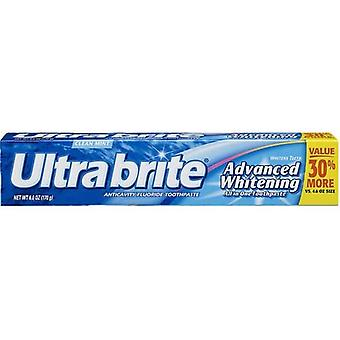 Ultra Brite Advanced Whitening Toothpaste, Clean Mint - 6.0 Ounce