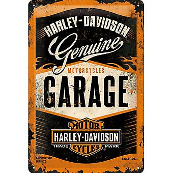 Harley Davidson Vintage Design Stor Tenn Tecken