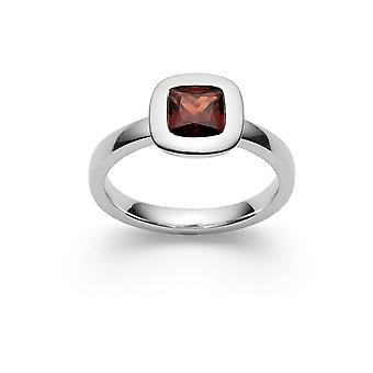 Bastian Inverun - Ring Sterling Silver - Röd Granat - 27740.58