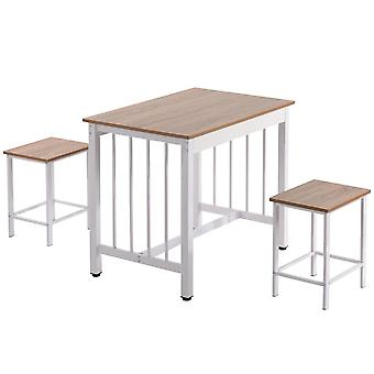 Wooden 2-seater Dining Set