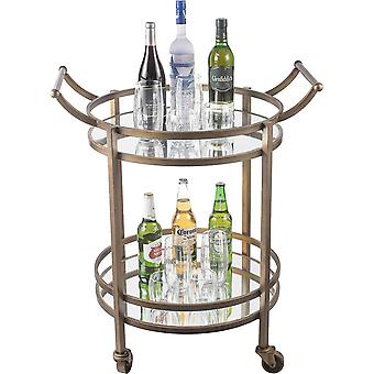 Coffee tables spura home two tier round bar table in bronze color 30x24x36h