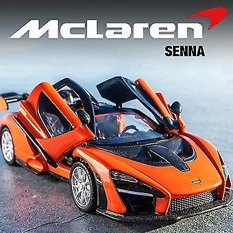 Toy cars 1/32 die cast mclaren senna sports car model toy alloy simulation sound light pull back superc