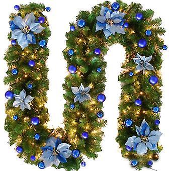 Guirnalda de Navidad con luces para la decoración de fiestas de bodas navideñas