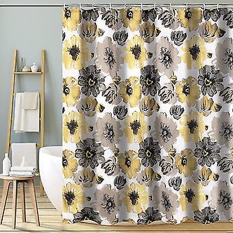 Duschvorhang Badezimmer Große Blüten Blumenmuster Wasserdicht Schnell Trocknen Polyester Badevorhänge