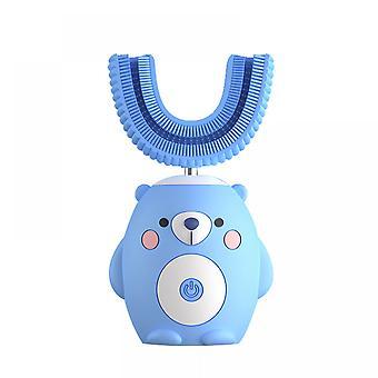 U Shaped Automatic Toothbrush 360 Puhdistus Kuudella älykkäällä tilalla Auto, ipx7 Vedenpitävä, design Lapsille Taapero 2-7 Vuotta Vanha (sininen-w)