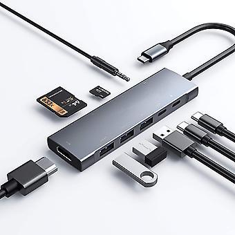 Adaptateur USB C 9 en 1 avec 4k HDMI Rj45 Ethernet Usb 3.0