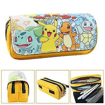Pokémon Detské dvojvrstvové puzdro na ceruzku Veľká kapacitacolor-11