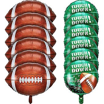 Football Balloons Set, For Tailgate Game Day Football Theme Supplies Birthday Party Decorations (12 Pieces)
