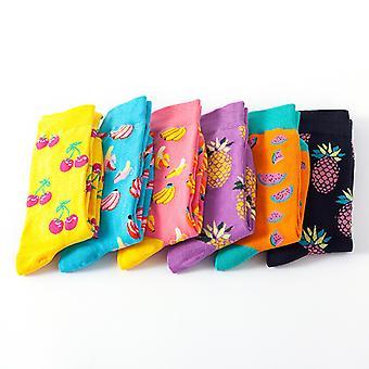 Damen Fun Kleid Socken Bunte Funky Socken Fancy Gemusterte Casual Baumwollsocken