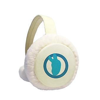Blue Circle Ear Warmer