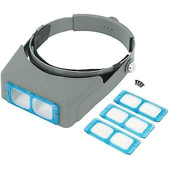 Head-mounted Double Lens Magnifier 1.5x 2x 2.5x 3.5x Optical 4 Lens