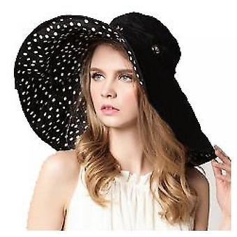 Kapelusz ze słomy słonecznej Szeroki rondo Letni kapelusz Składany Roll Up