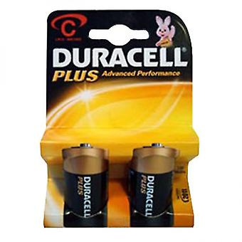 Duracell MN1400PLUS-B2 Duracell Plus Alkaline Battery C Size (Pack of 10)
