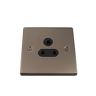 Causeway 1 Gang 5A DP Round Pin Socket, Satin Chrome