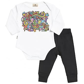 Spoilt Rotten Cartoon Baby T-Shirt & Baby Jersey Trousers Outfit Set