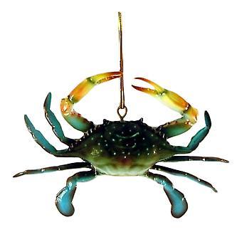 Coastal Maryland Blue Crab 6 Inch Three Dimensional Resin Ornament
