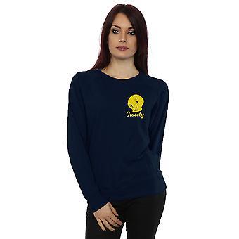 Looney Tunes Women's Tweety Pie Head Sweatshirt