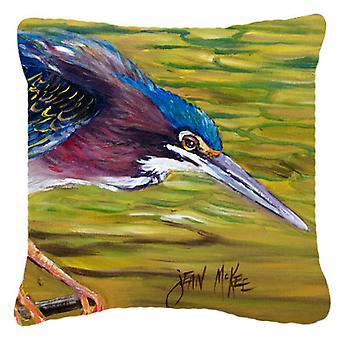 Carolines Treasures  JMK1226PW1818 Green Heron Canvas Fabric Decorative Pillow